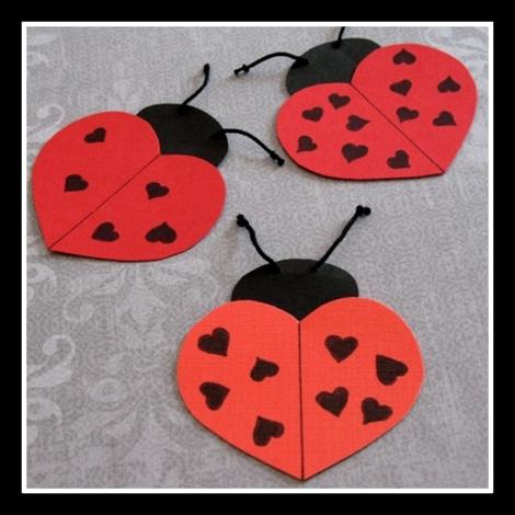 Moldes infantiles para san valentin de mariquitas - Como hacer adornos de san valentin ...