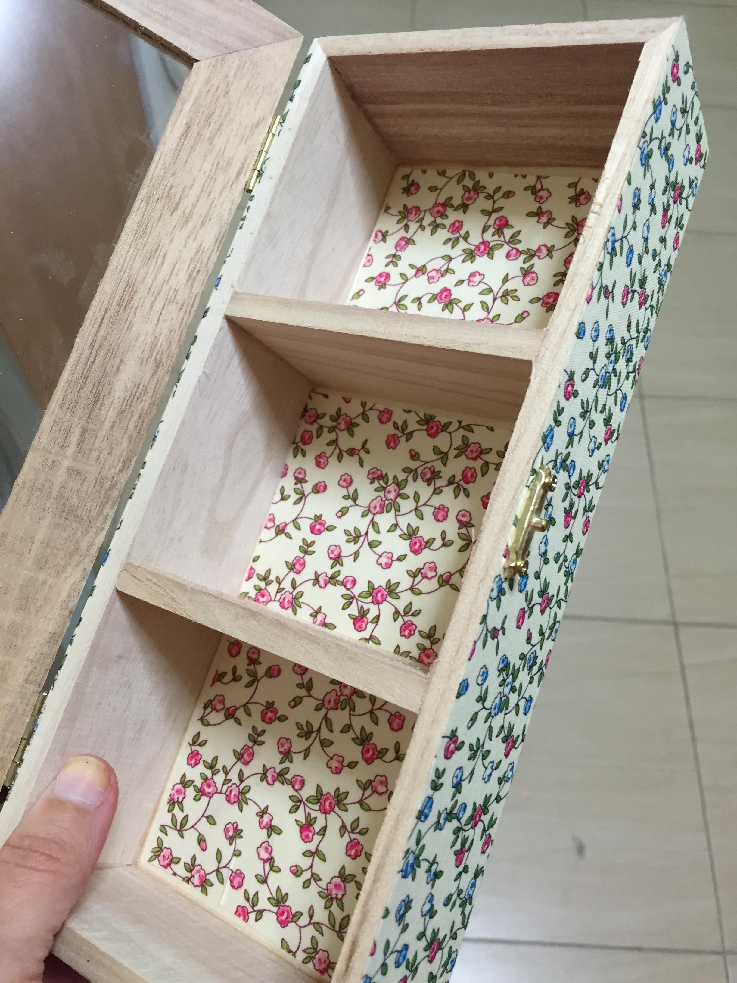 Decorar una cajita de madera fuera los tacones - Decorar cajas de madera con papel ...